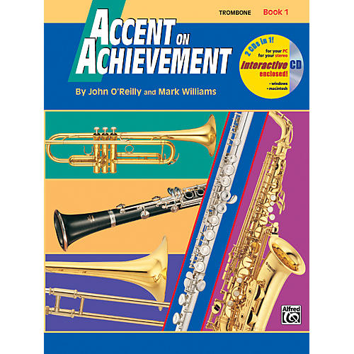 Alfred Accent on Achievement Book 1 Trombone Book & CD thumbnail