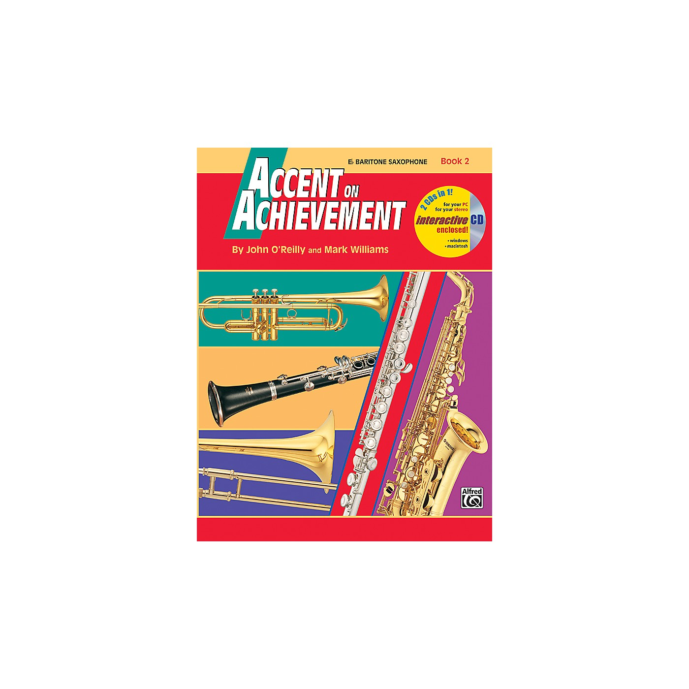Alfred Accent on Achievement Book 2 E-Flat Baritone Saxophone Book & CD thumbnail