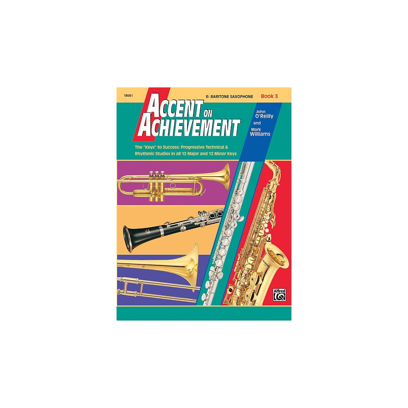 Alfred Accent on Achievement Book 3 E-Flat Baritone Saxophone thumbnail