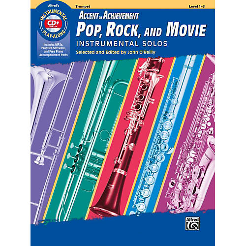 Alfred Accent on Achievement Pop, Rock, and Movie Instrumental Solos Trumpet Book & CD thumbnail