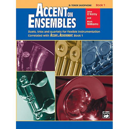 Alfred Accent on Ensembles Book 1 B-Flat Tenor Saxophone-thumbnail
