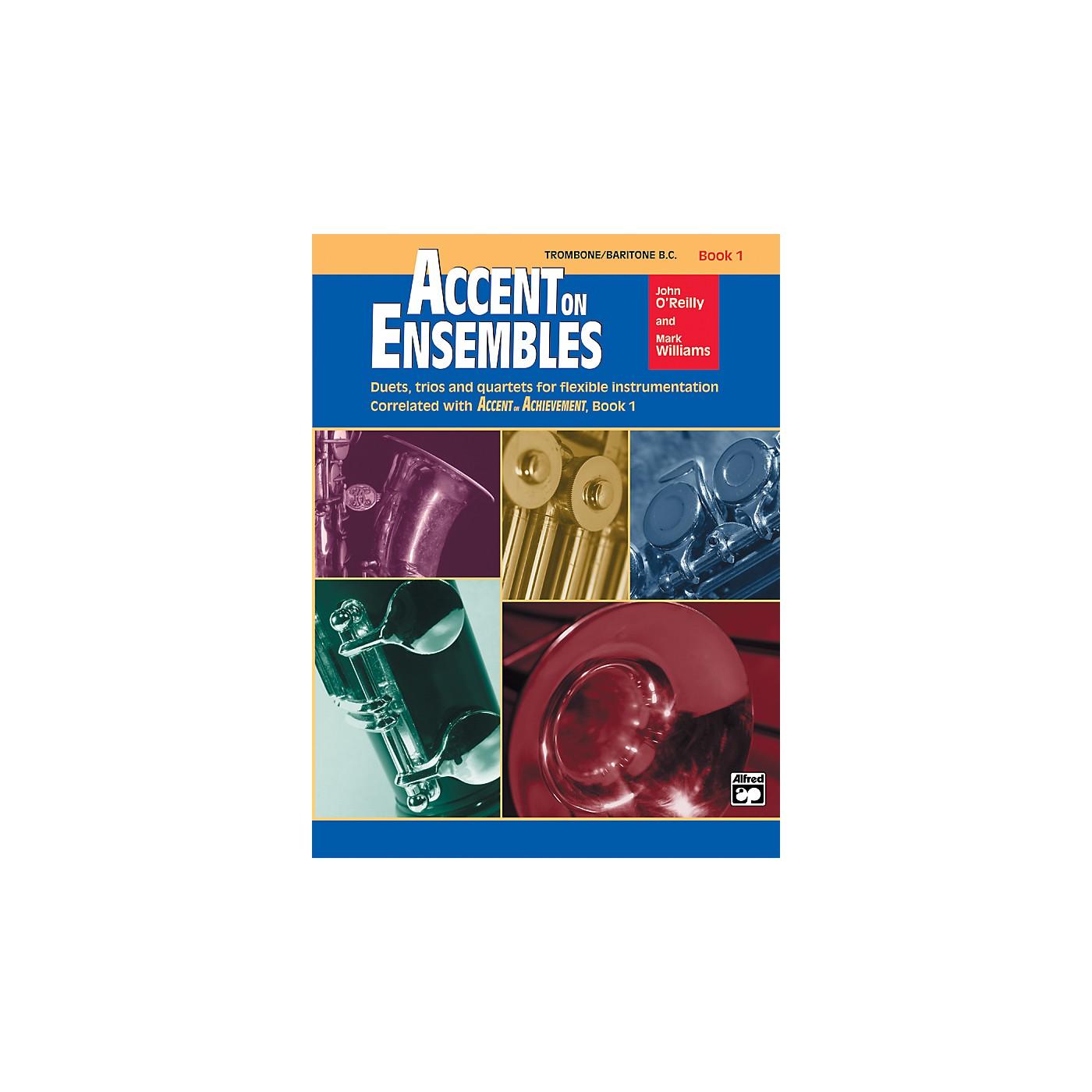 Alfred Accent on Ensembles Book 1 Trombone Baritone B.C. thumbnail