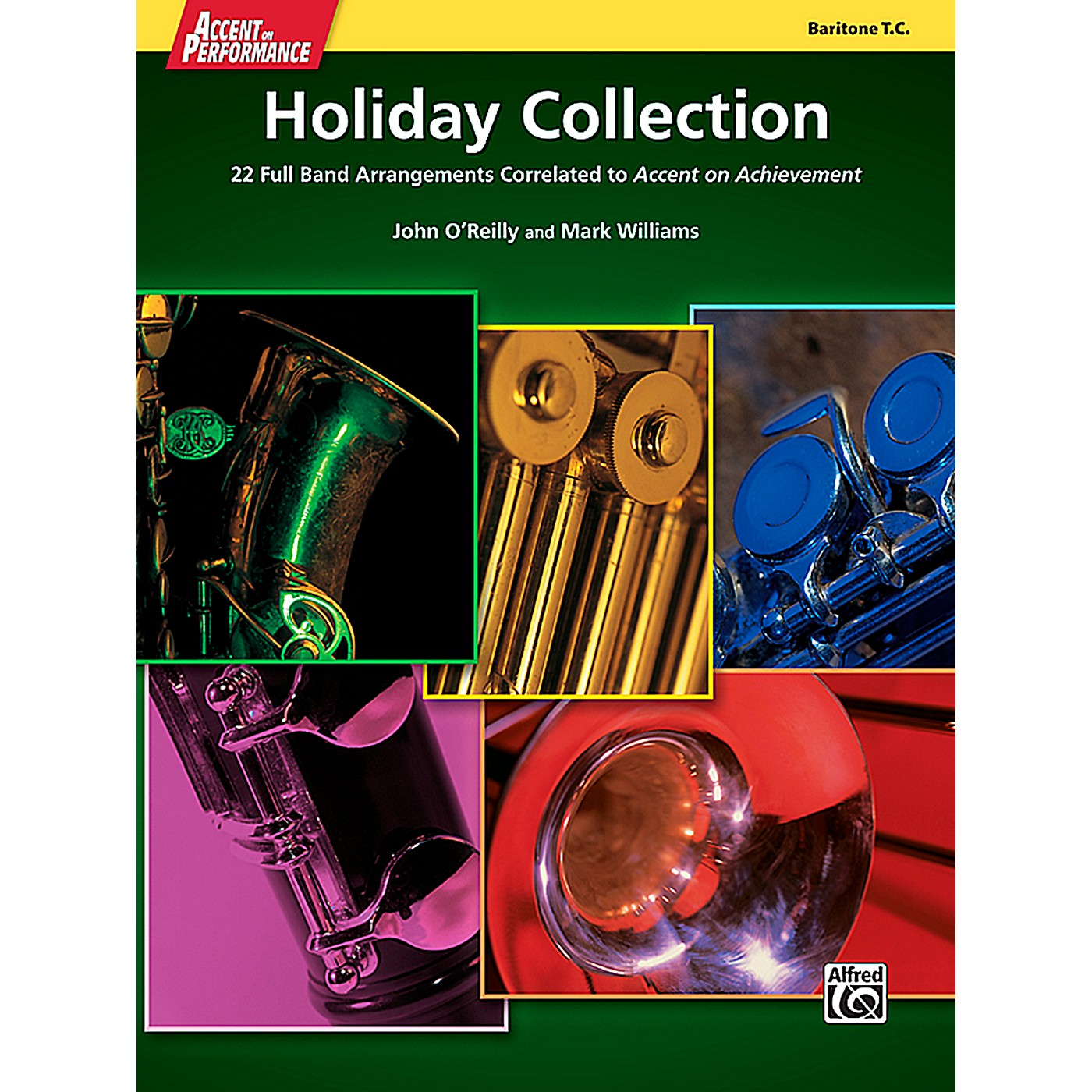 Alfred Accent on Performance Holiday Collection Baritone Treble Clef Book thumbnail