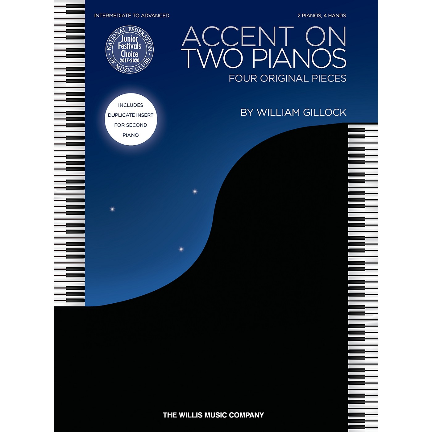 Willis Music Accent on Two Pianos (Inter to Advanced Level) Willis Series Book by William Gillock thumbnail