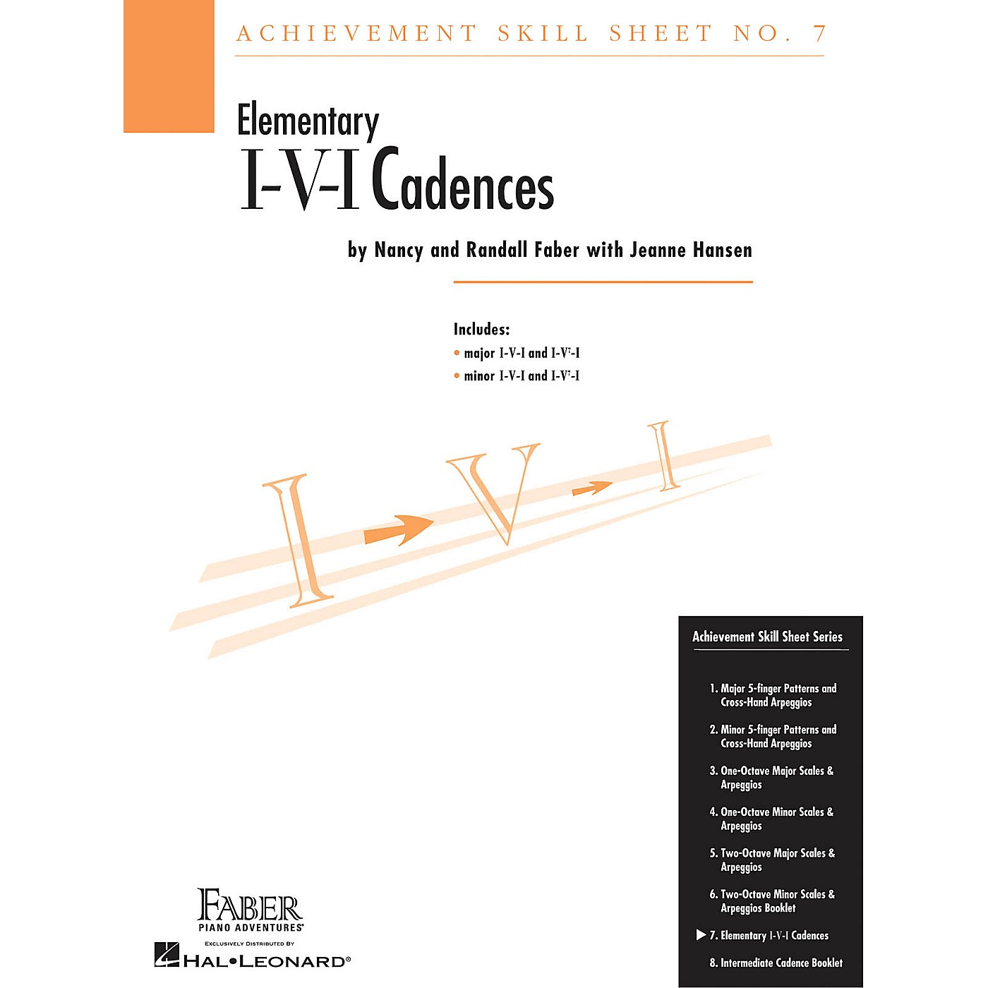 Faber Piano Adventures Achievement Skill Sheet No. 7: I-V-I Cadences Faber Piano Adventures® Series Composed by Nancy Faber thumbnail