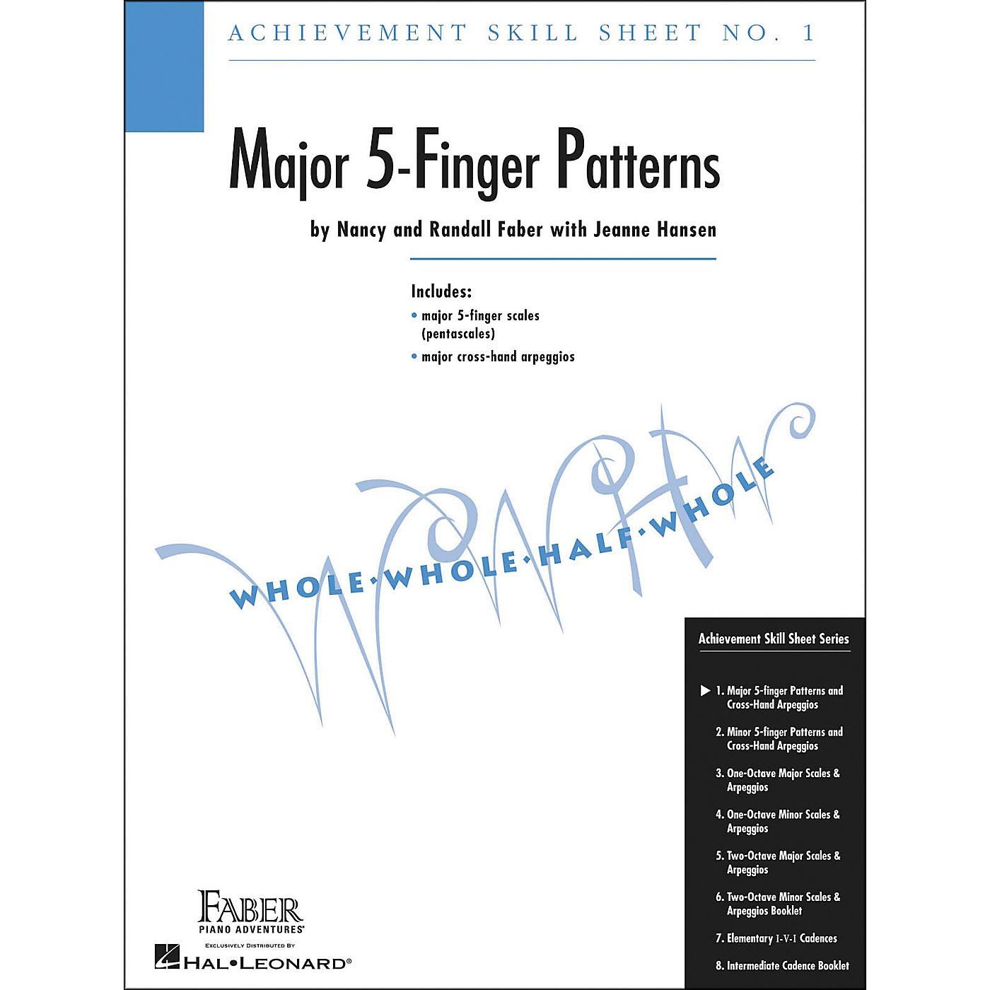 Faber Piano Adventures Achievement Skill Sheet No.1: Major 5-Finger Patterns - Faber Piano thumbnail