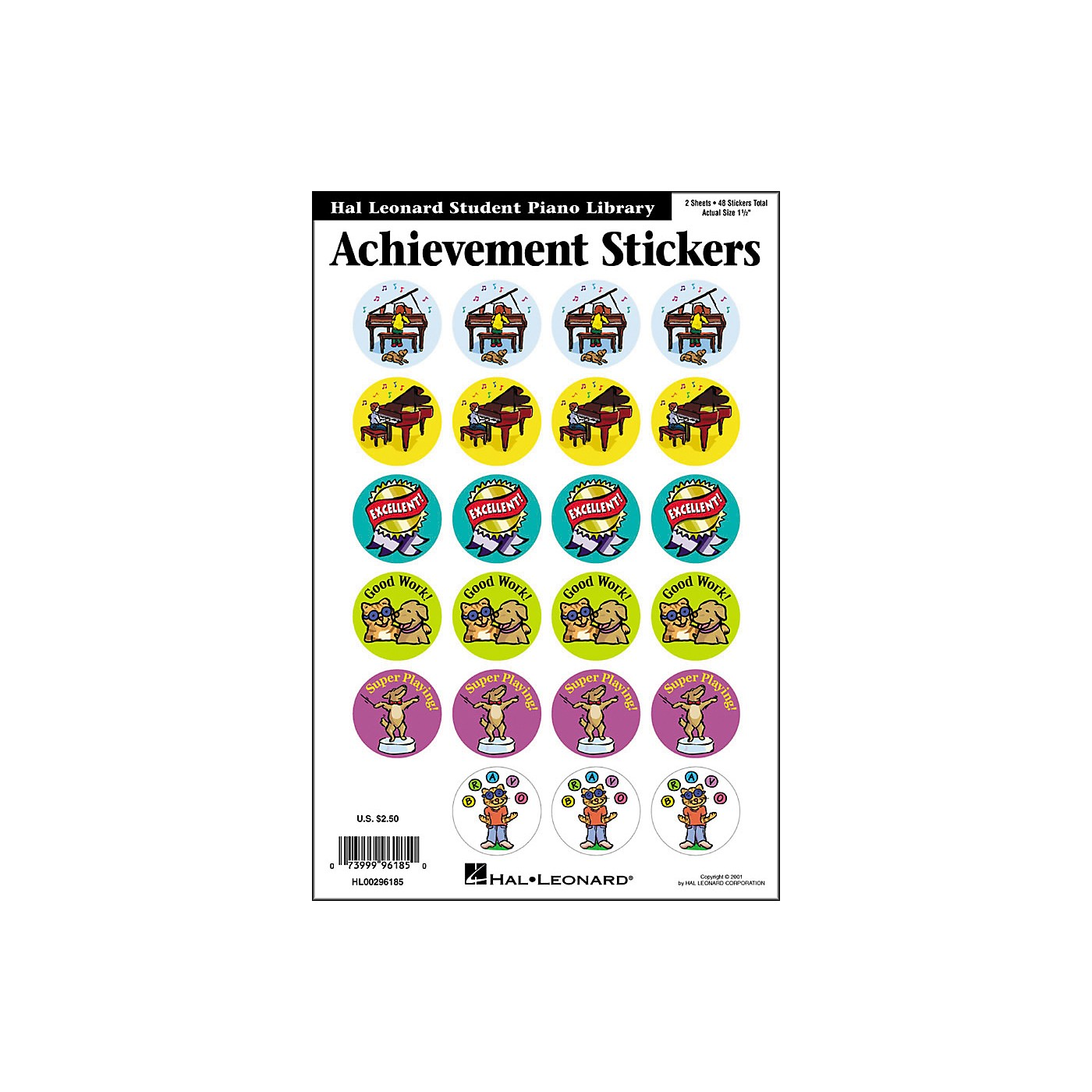 Hal Leonard Achievement Stickers Package Hal Leonard Student Piano Library thumbnail