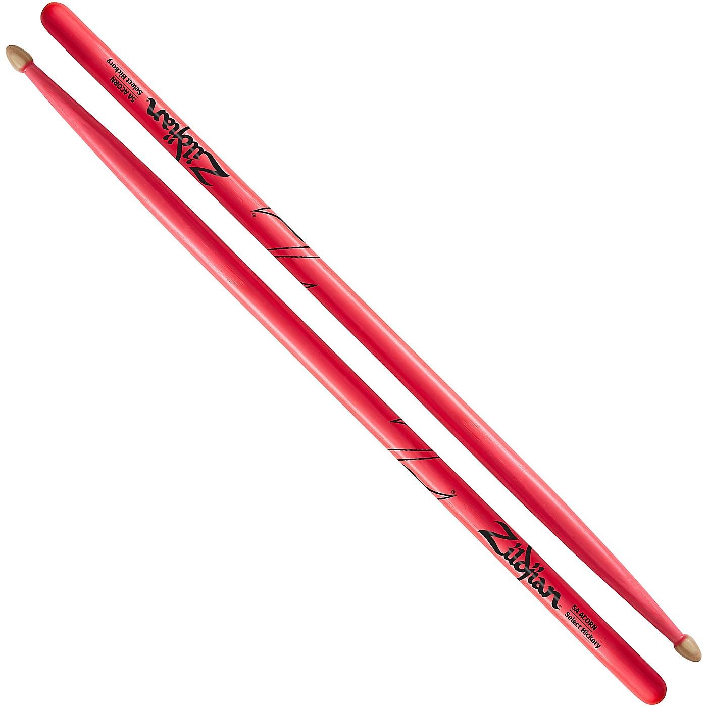 Zildjian Acorn Tip Neon Pink Drumsticks thumbnail
