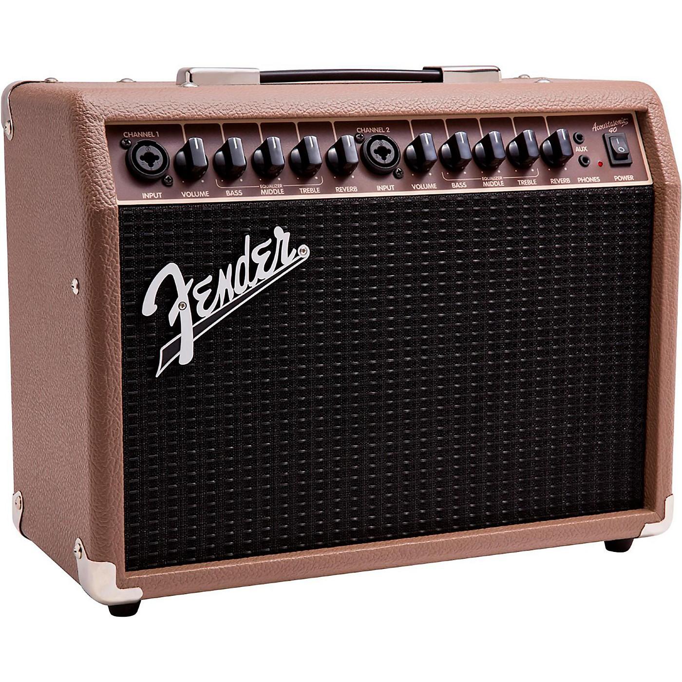 Fender Acoustasonic 40 40W 2x6.5 Acoustic Guitar Amplifier thumbnail