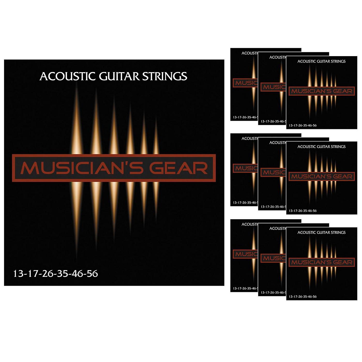 Musician's Gear Acoustic 13 80/20 Bronze Guitar Strings 10-Pack thumbnail