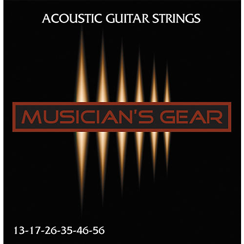 Musician's Gear Acoustic 13 80/20 Bronze Guitar Strings thumbnail