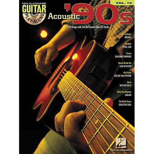 Hal Leonard Acoustic '90s Guitar Play-Along Volume 72 Book/CD thumbnail
