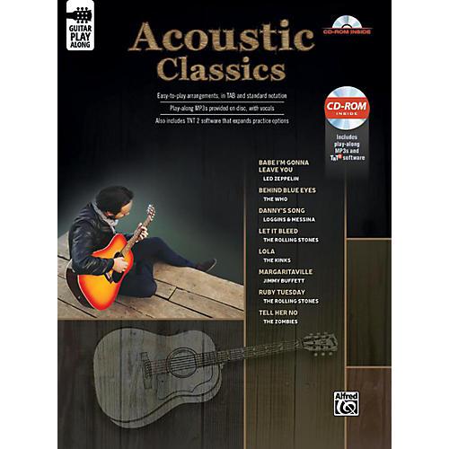 Alfred Acoustic Classics Guitar Play-Along Guitar TAB Book & CD-ROM Songbook thumbnail
