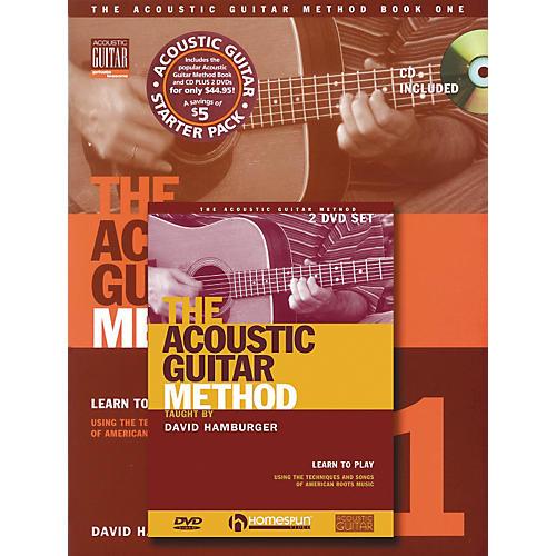 Homespun Acoustic Guitar Method with CD and 2-DVD Set-thumbnail