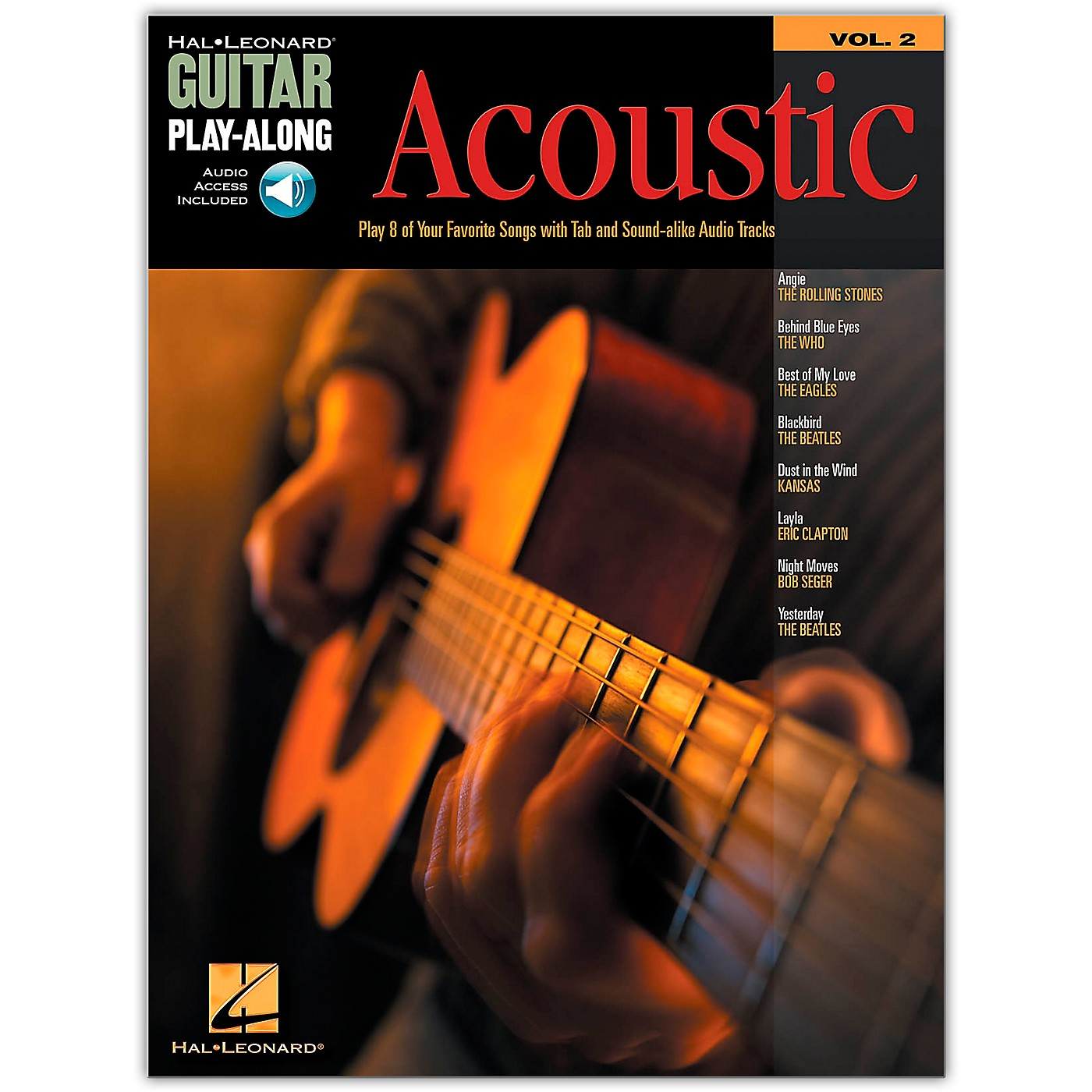 Hal Leonard Acoustic Guitar Play-Along Series Volume 2 (Book/Online Audio) thumbnail