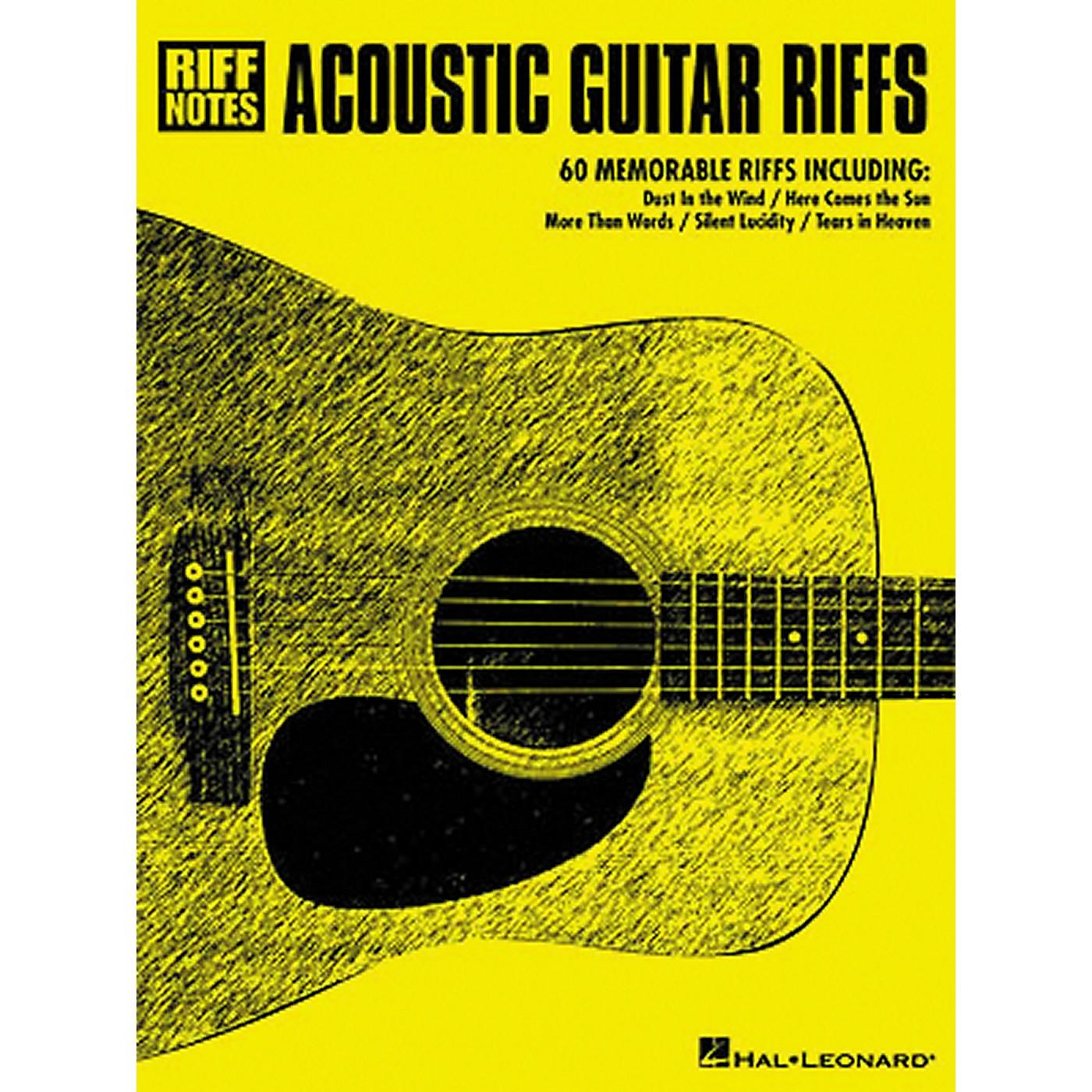 Hal Leonard Acoustic Guitar Riffs Tab Songbook thumbnail