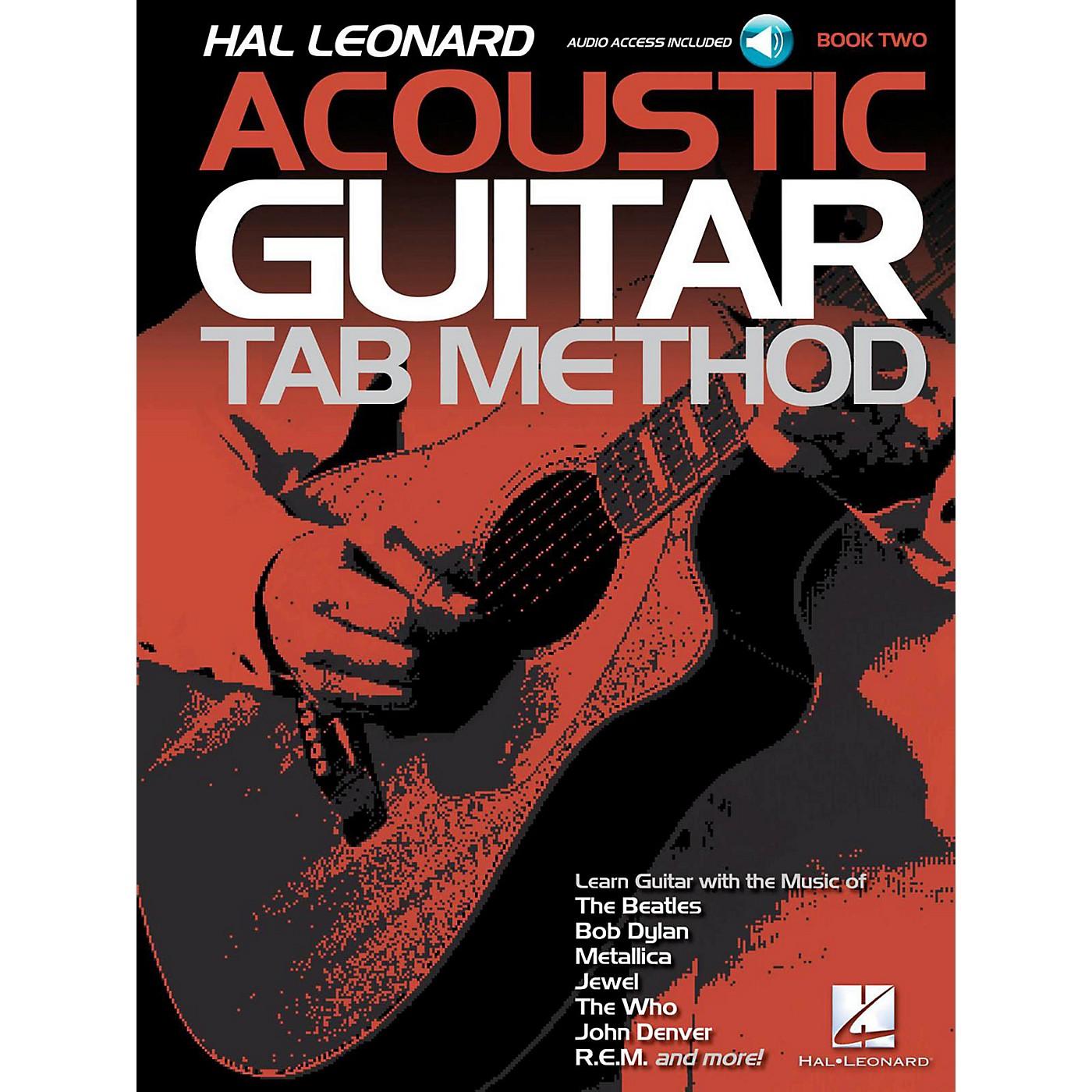 Hal Leonard Acoustic Guitar Tab Method  Book 2 Book/Audio Online thumbnail