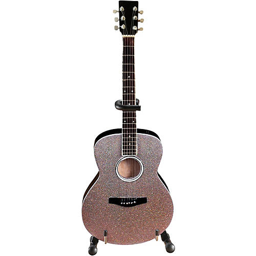 Axe Heaven Acoustic Guitar with Glitter Rhinestone Finish Officially Licensed Miniature Guitar Replica thumbnail