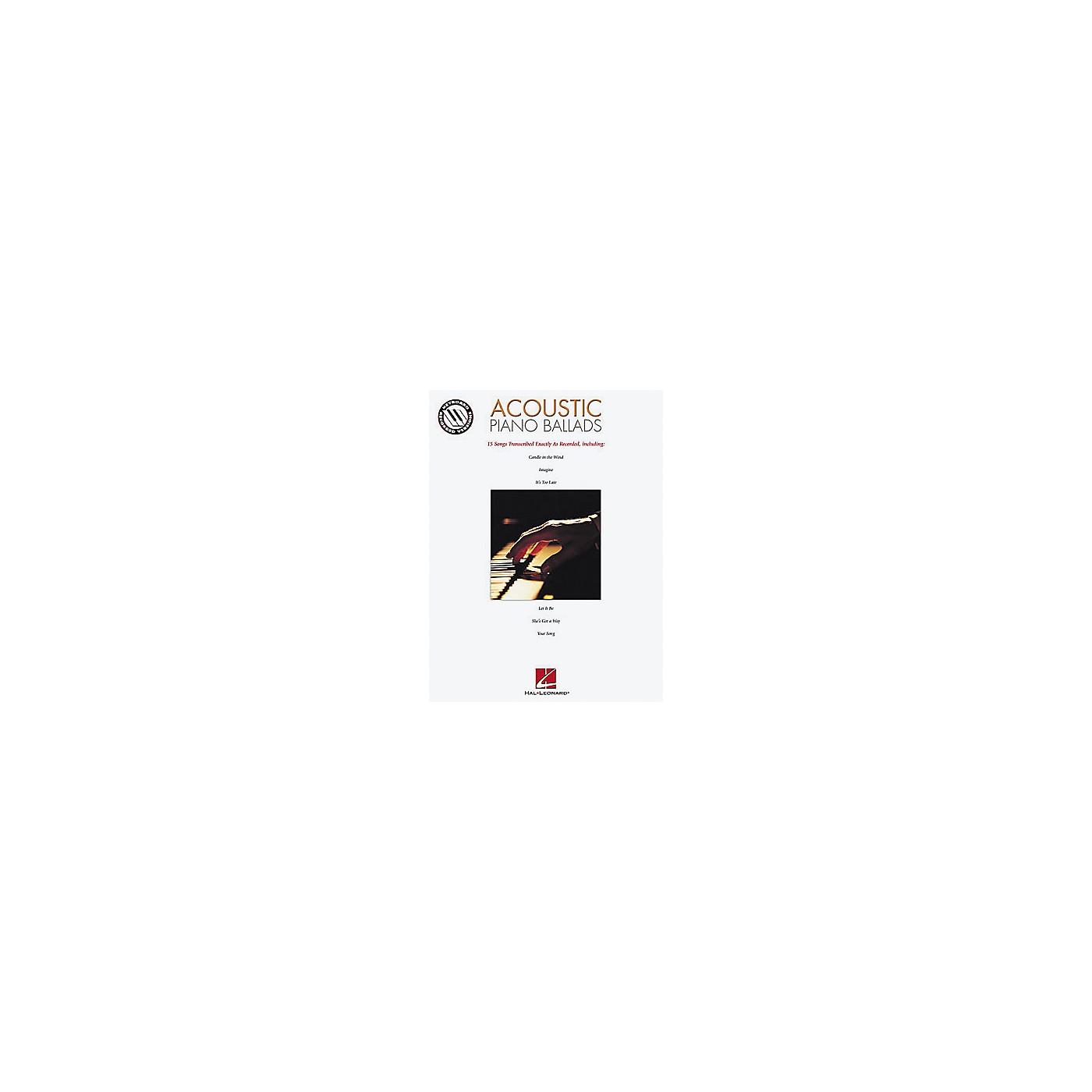 Hal Leonard Acoustic Piano Ballads Songbook thumbnail