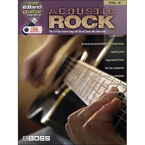 Hal Leonard Acoustic Rock Guitar Play- Along Volume 6 (Boss eBand Custom Book with USB Stick) thumbnail