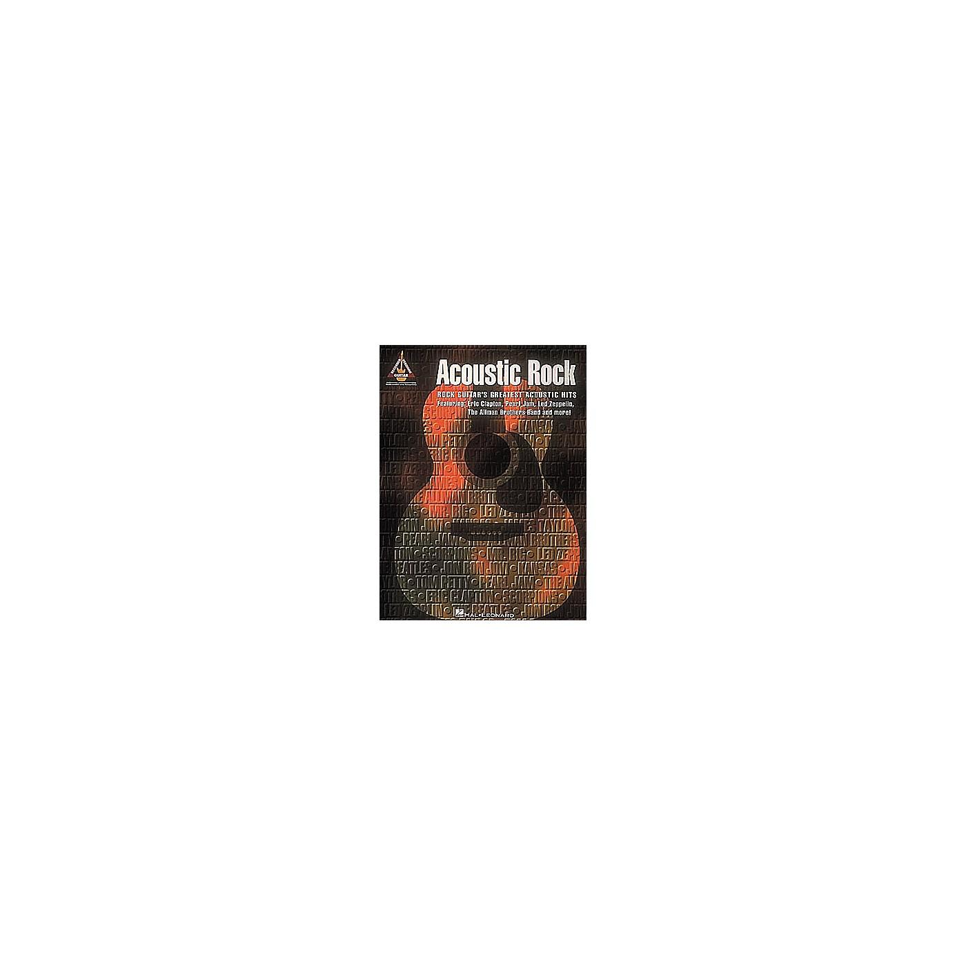 Hal Leonard Acoustic Rock Guitar Tab Songbook thumbnail