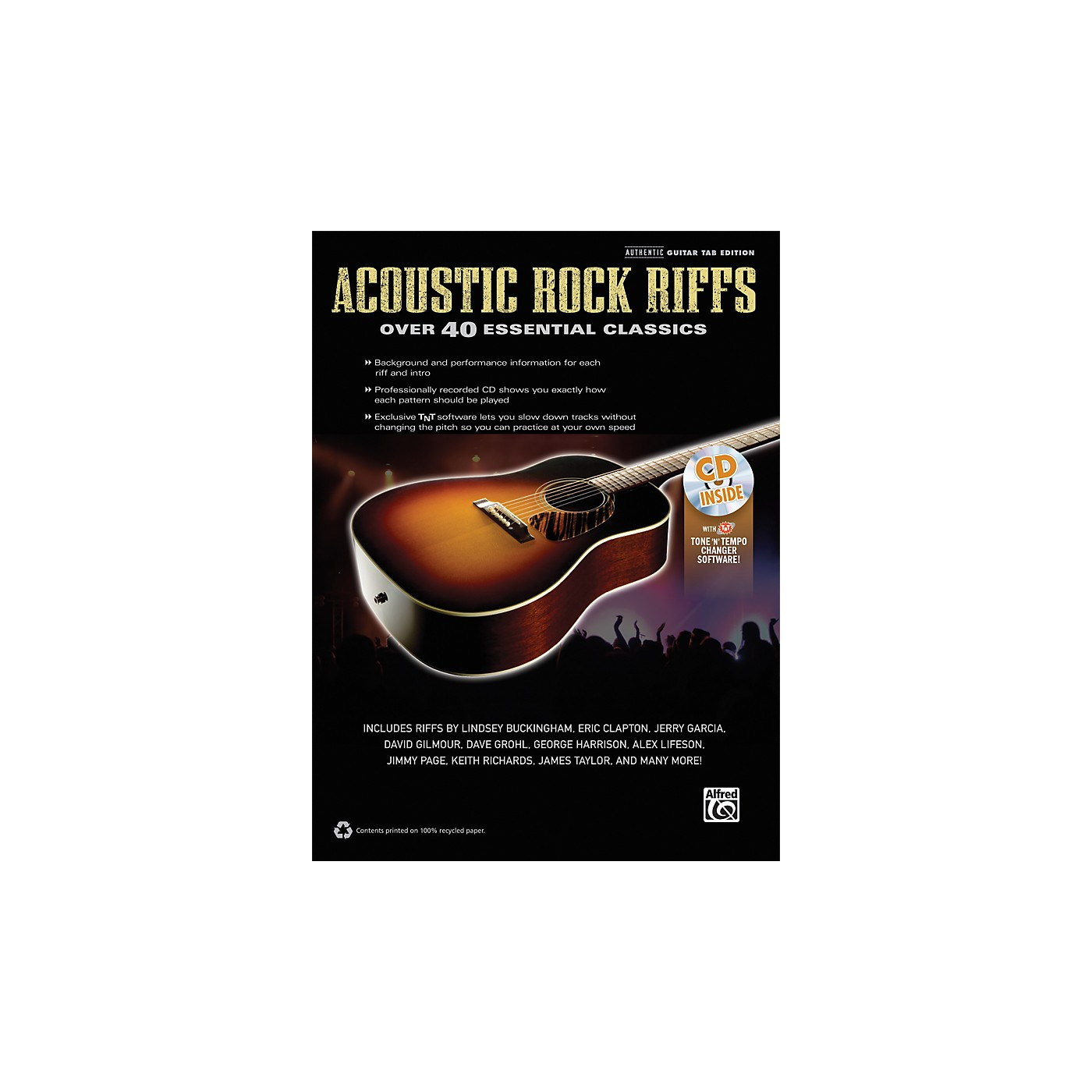 Alfred Acoustic Rock Riffs Guitar Book & CD thumbnail