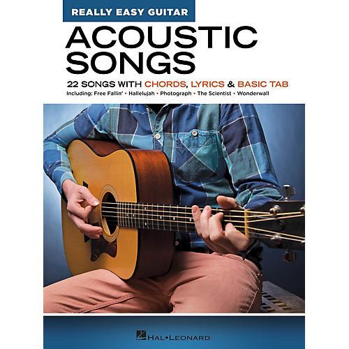 Hal Leonard Acoustic Songs - Really Easy Guitar Series (22 Songs with Chords, Lyrics & Basic Tab) thumbnail