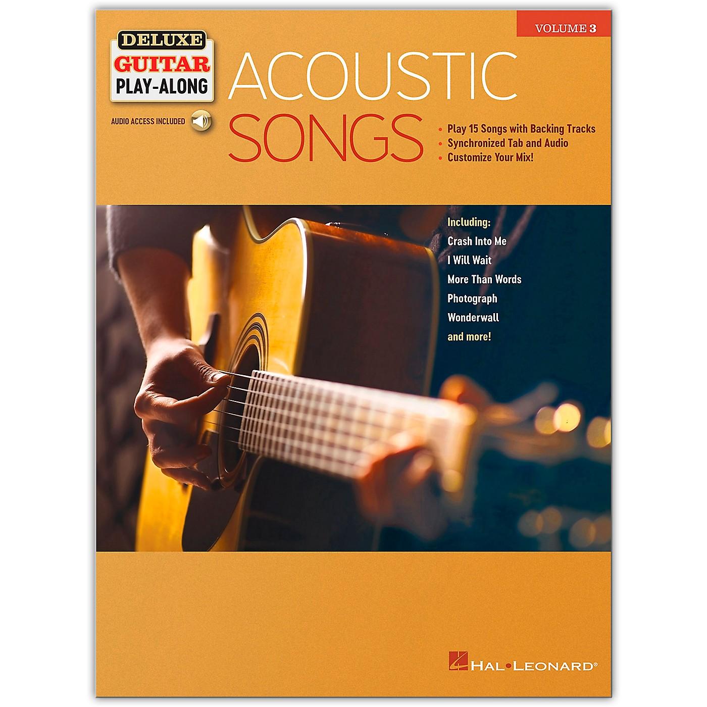 Hal Leonard Acoustic Songs Deluxe Guitar Play-Along Volume 3 Book/Audio Online thumbnail
