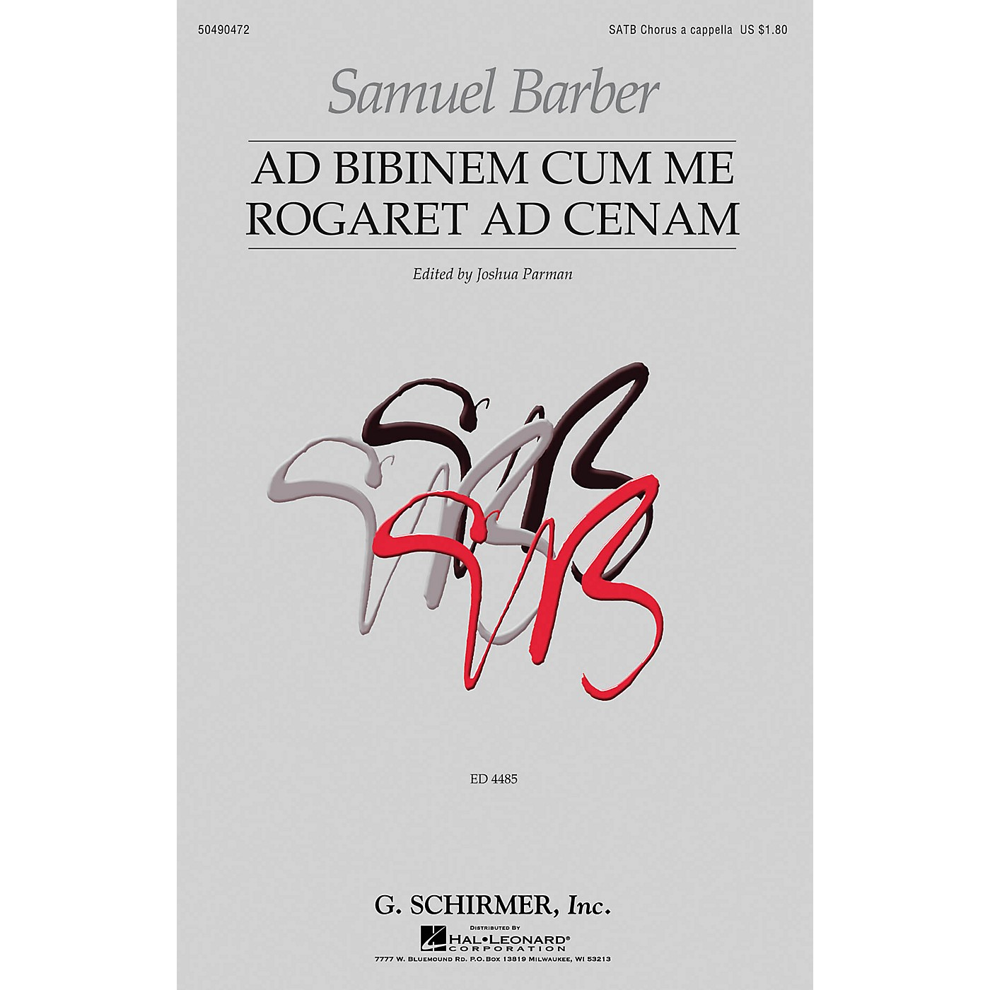 G. Schirmer Ad Bibinem Cum Me Rogaret Ad Cenam (First Edition) SATB a cappella composed by Samuel Barber thumbnail