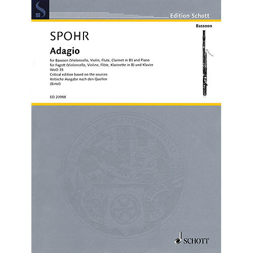 Schott Adagio, WoO 35 Schott Series by Louis Spohr Edited by Wolfgang Birtel thumbnail