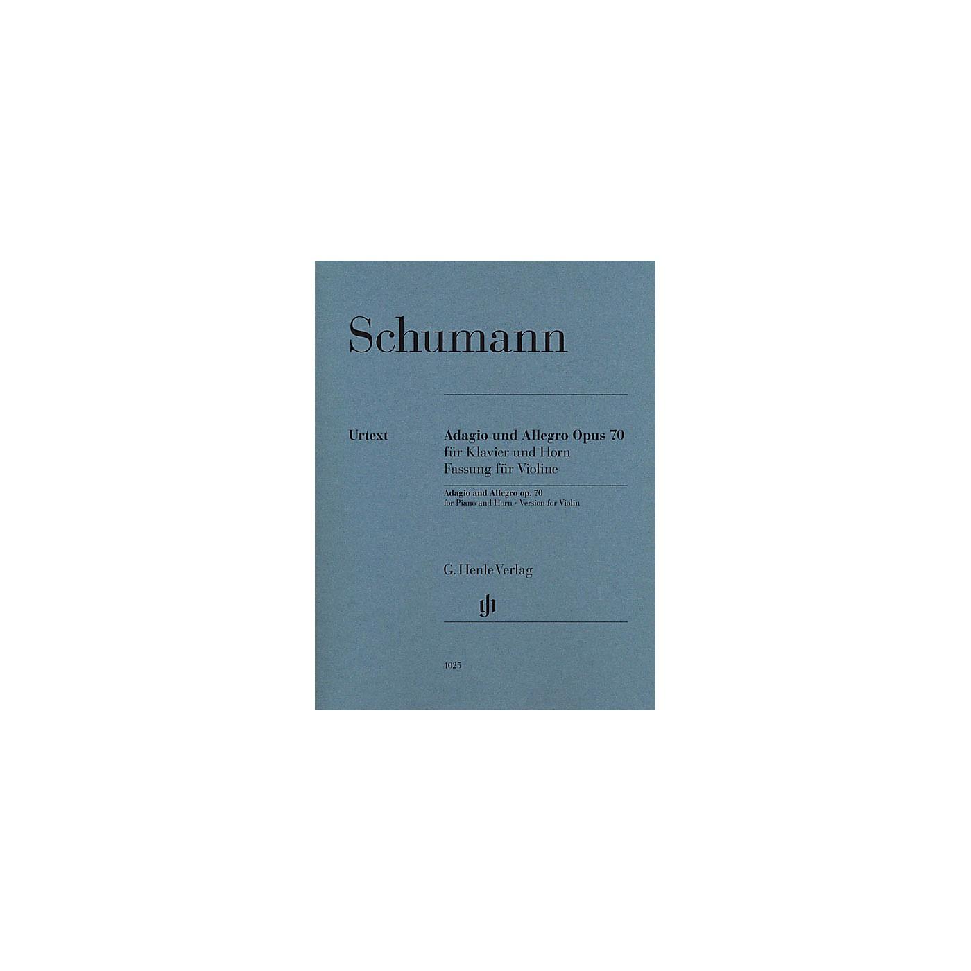 G. Henle Verlag Adagio and Allegro, Op. 70 Henle Music Folios Composed by Robert Schumann Edited by Ernst Herttrich thumbnail