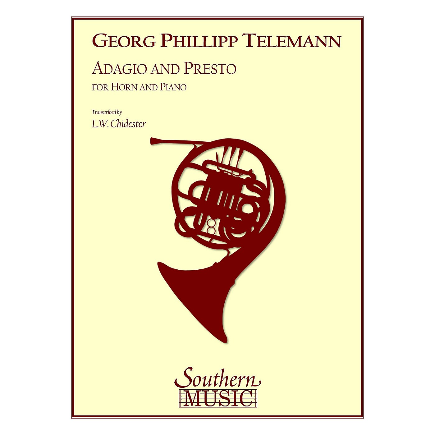 Southern Adagio and Presto Southern Music Series Composed by Georg Philipp Telemann Arranged by L.W. Chidester thumbnail