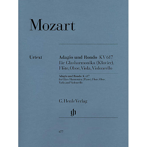 G. Henle Verlag Adagio and Rondo K617 Henle Music Folios Series Softcover  by Wolfgang Amadeus Mozart thumbnail
