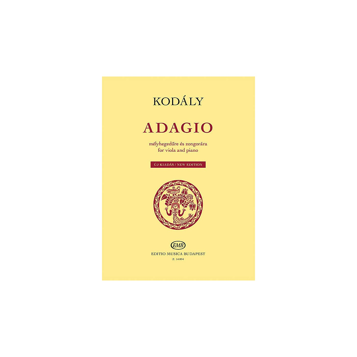 Editio Musica Budapest Adagio for Viola and Piano - New Edition EMB Series Softcover thumbnail