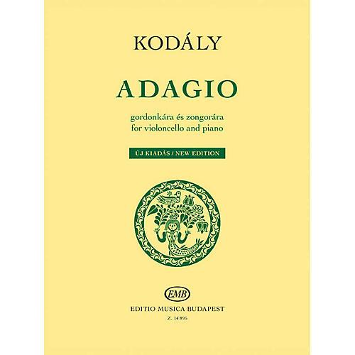 Editio Musica Budapest Adagio for Violoncello and Piano - New Edition EMB Series Softcover thumbnail