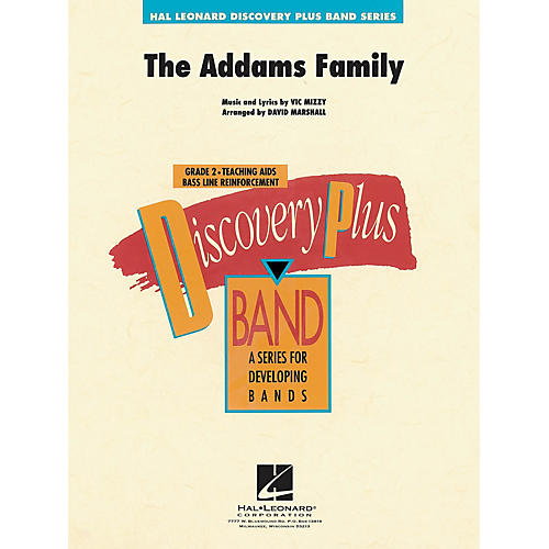 hal leonard addams family theme the discovery plus concert band series arranged by david marshall