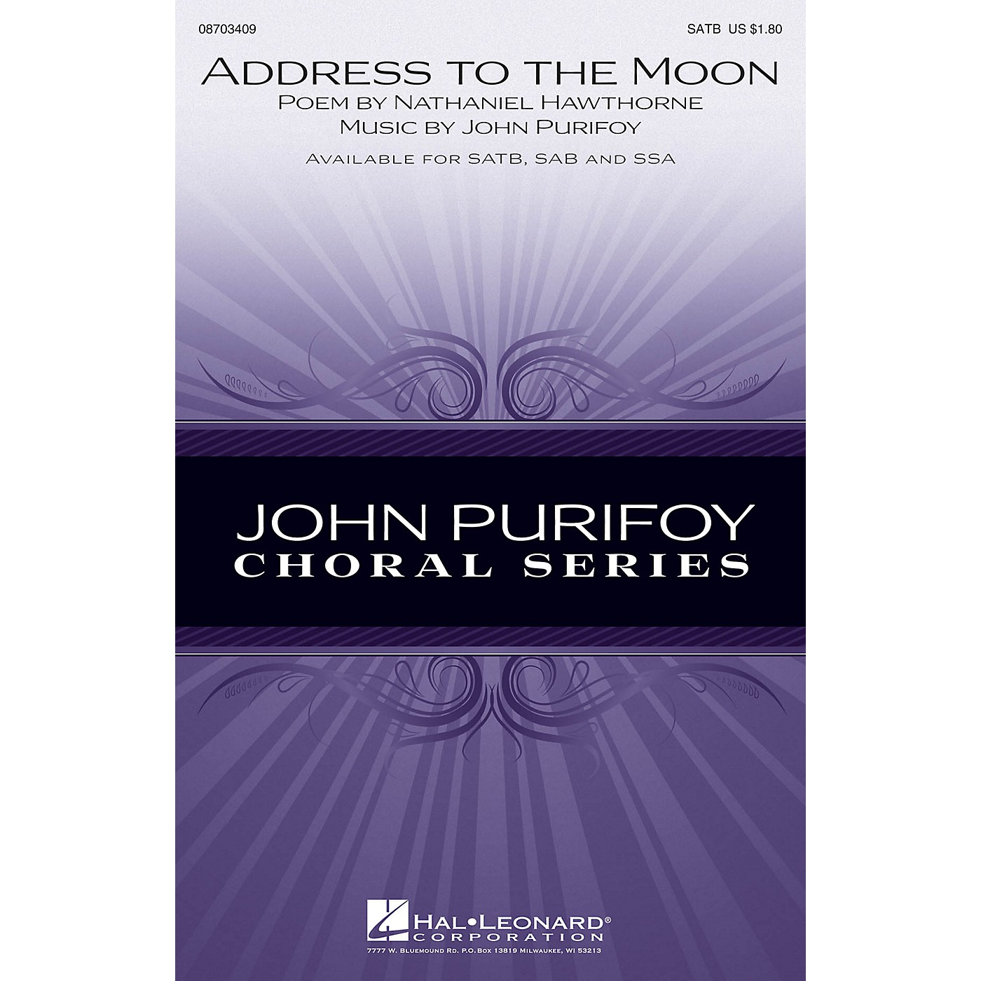 Hal Leonard Address to the Moon SSA Composed by John Purifoy thumbnail