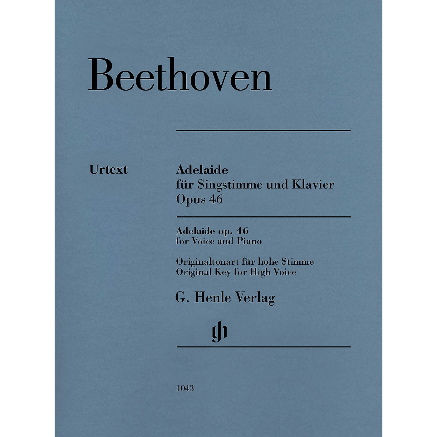 G. Henle Verlag Adelaide, Op. 46 Henle Music Folios Softcover  by Ludwig van Beethoven Edited by Helga Luhning thumbnail