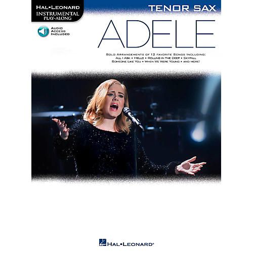 Hal Leonard Adele For Tenor Sax - Instrumental Play-Along Book/Online Audio thumbnail