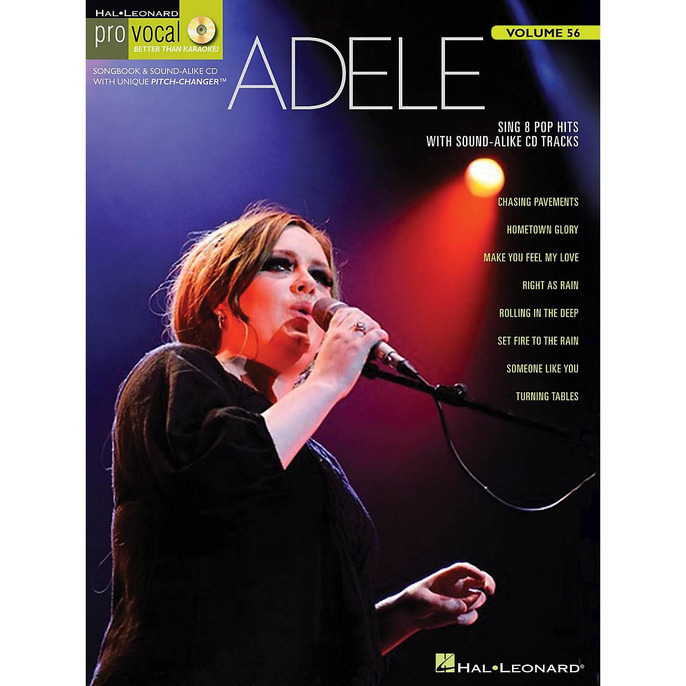 Hal Leonard Adele Pro Vocal Women's Edition Volume 56 Songbook/CD thumbnail
