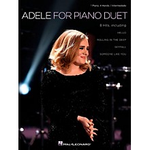Hal Leonard Adele for Piano Duet - 1 Piano, 4 Hands / Intermediate Level