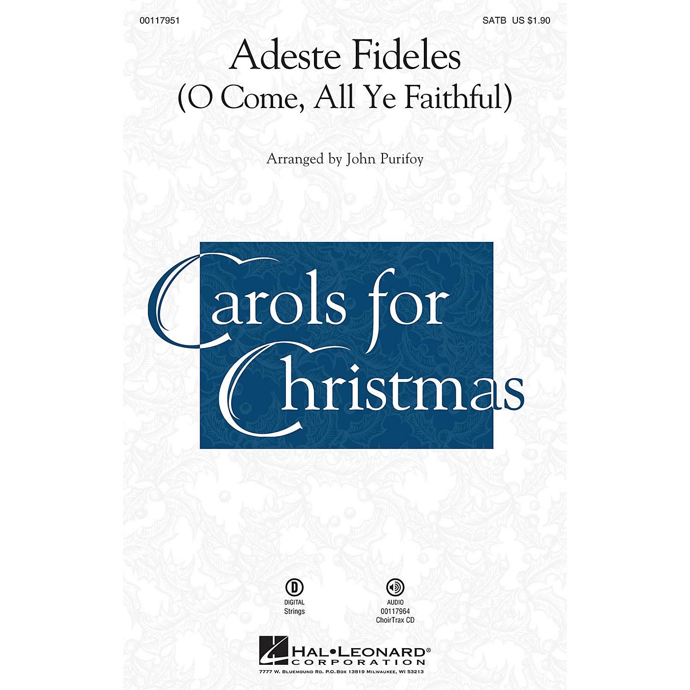 Hal Leonard Adeste Fideles SATB Arranged by John Purifoy thumbnail