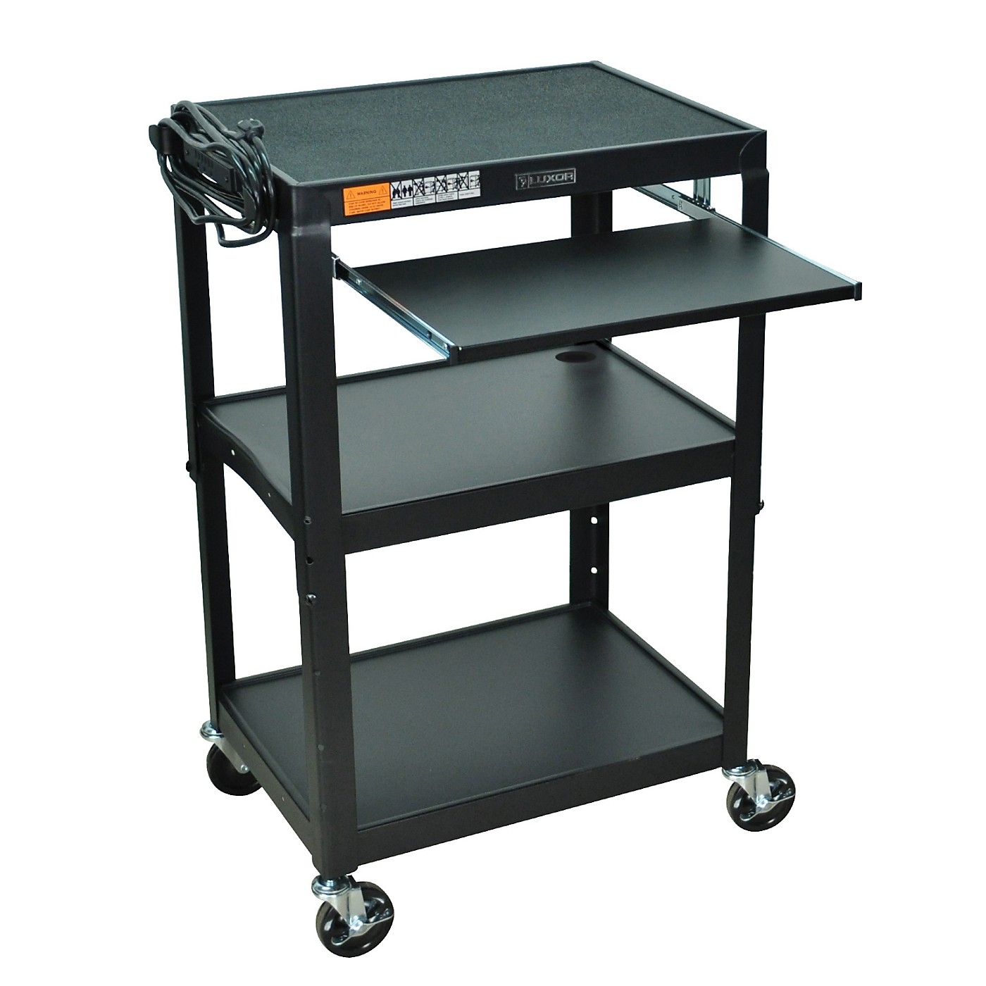 H. Wilson Adjustable Height Cart with Keyboard Tray thumbnail