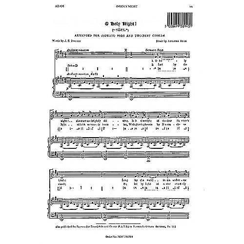 Music Sales Adolphe Adam: O Holy Night (Soprano Solo) Music Sales America Series thumbnail