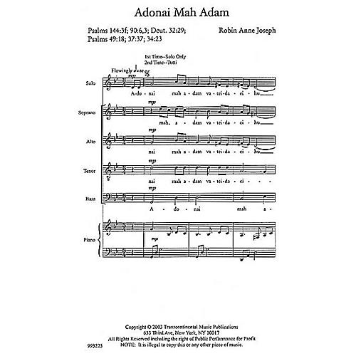 Transcontinental Music Adonai Mah Adam (O God, What Are We?) SATB composed by Robin Joseph thumbnail