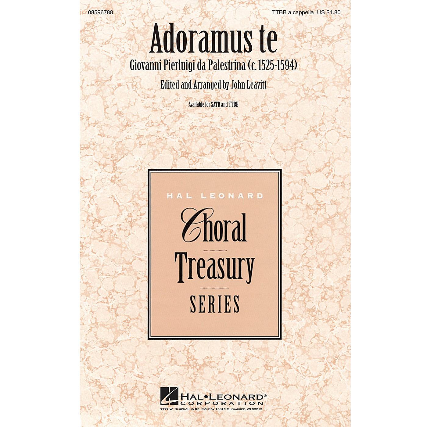 Hal Leonard Adoramus Te TTBB A Cappella composed by Giovanni Pierluigi da Palestrina thumbnail
