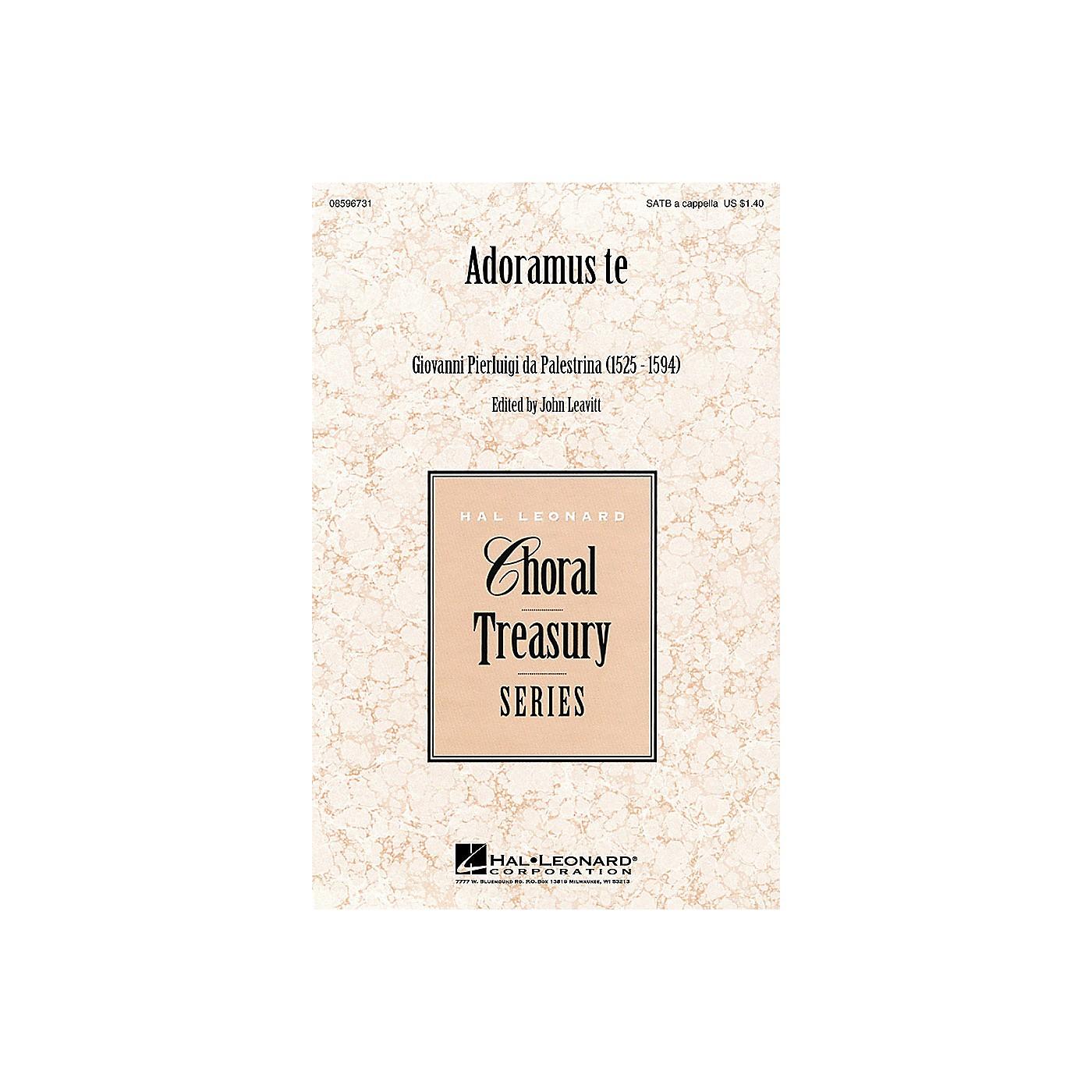 Hal Leonard Adoramus te SATB a cappella arranged by John Leavitt thumbnail