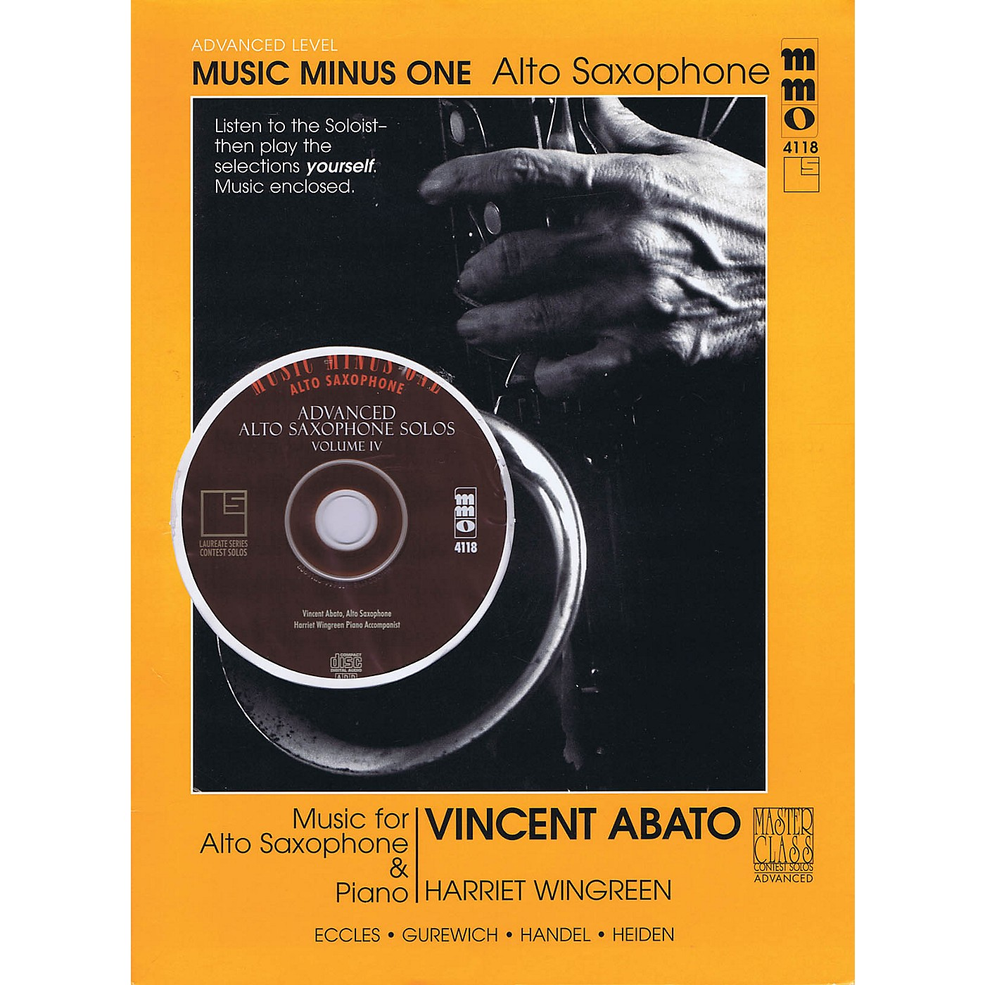 Music Minus One Advanced Alto Saxophone Solos - Vol. IV Music Minus One Series Book with CD by Vincent Abato thumbnail