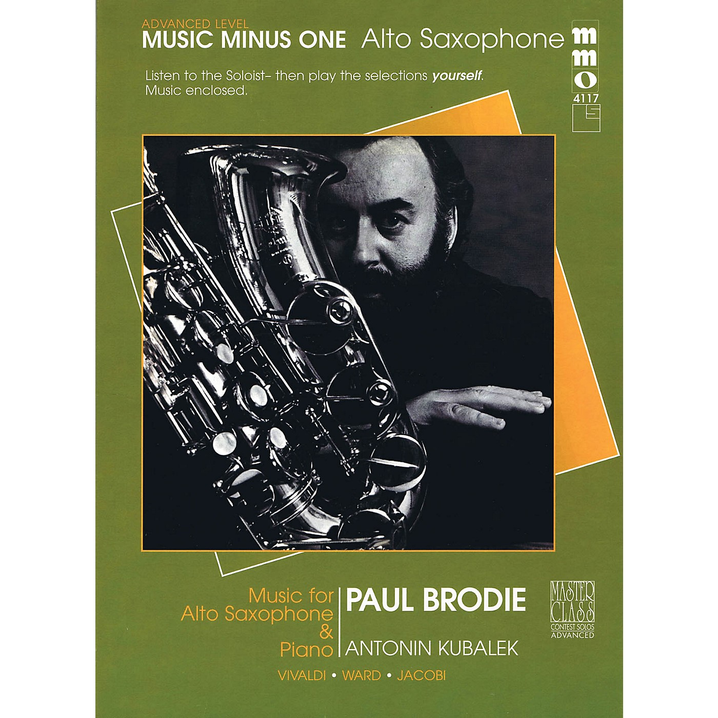 Music Minus One Advanced Alto Saxophone Solos - Volume 3 Music Minus One Series Book with CD  by Various thumbnail