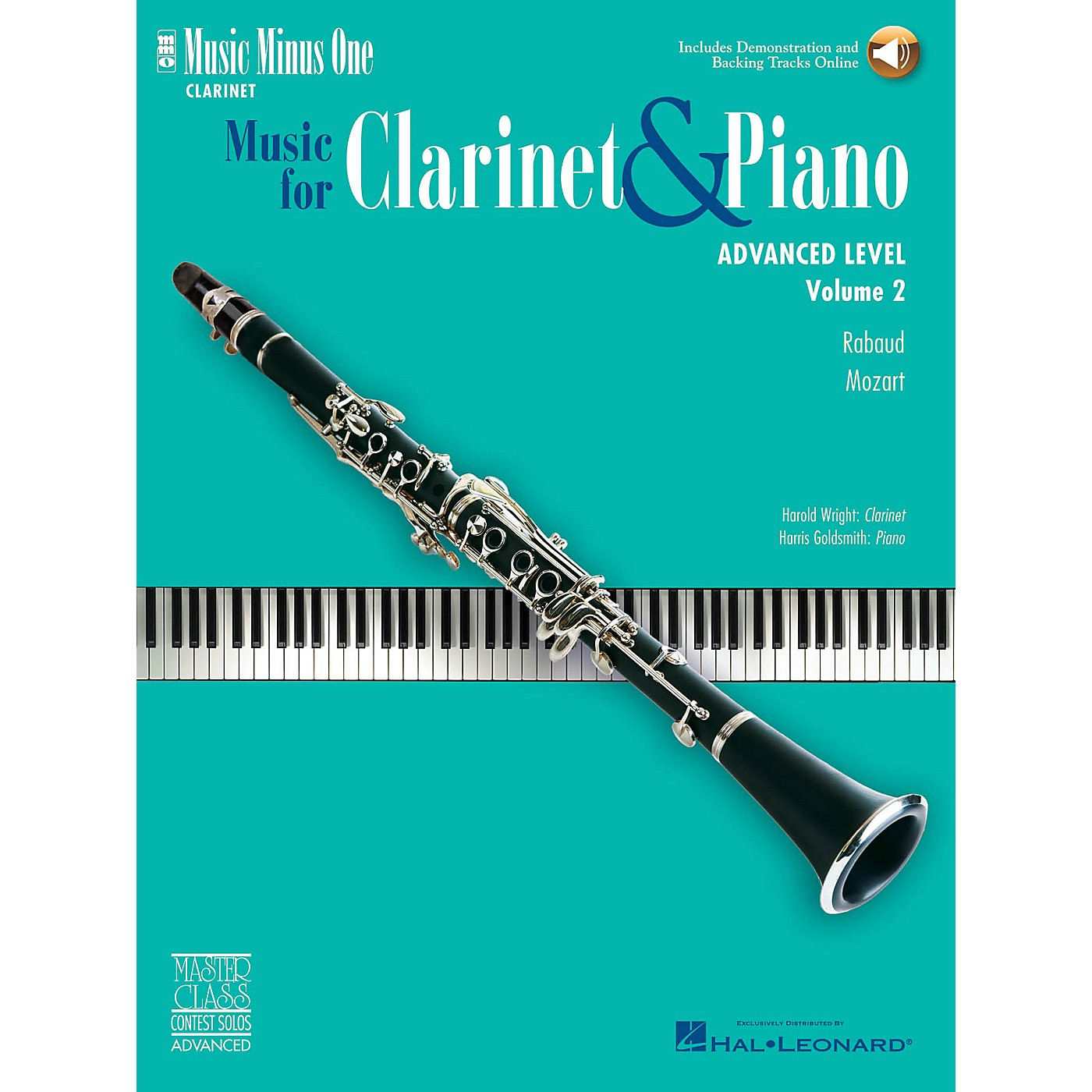 Music Minus One Advanced Clarinet Solos - Volume II Music Minus One Series BK/CD Performed by Harold Wright thumbnail